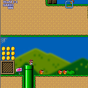 Jeu Super Mario World Flash