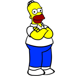 Jeu Homer Simpson Coloring