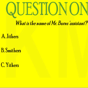 Jeu The Simpsons Quiz