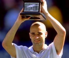 photo André Agassi gagne l'Open d'Australie 2000