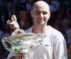 photo André Agassi gagne l'Open d'Australie 2001