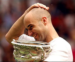 photo André Agassi gagne l'Open d'Australie 2003