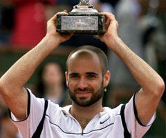photo Andre Agassi gagne Roland Garros 1999