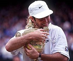 photo Andre Agassi gagne Wimbledon 1992