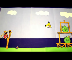photo Angry Birds en stop motion