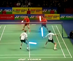 photo Badminton Star Wars