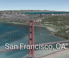 photo La baie de San Francisco en 3D dans Google Earth