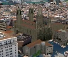 photo Barcelone en 3D dans Google Earth