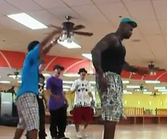 photo Battle de break dance Justin Bieber vs Shaq