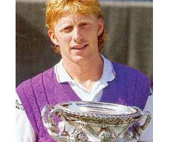 photo Boris Becker gagne l'Open d'Australie 1991