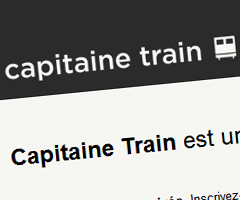 photo CapitaineTrain.com site de vente de billets de train Capitaine Train