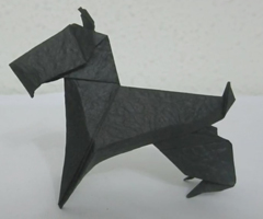 photo Comment faire un chien en Origami (pliage de papier)