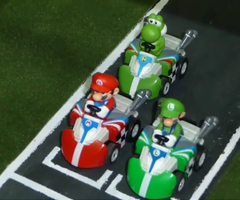 photo Course de Mario Kart mini en vrai