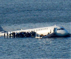photo Crash d'un Airbus A320 dans l'Hudson River