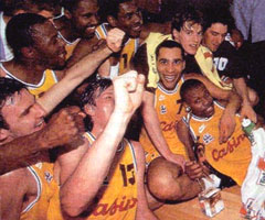 photo CSP Limoges champion d'Europe de Basket 1993