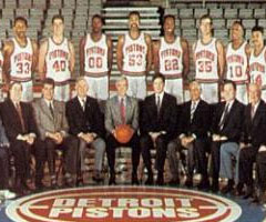 photo Detroit Pistons champion NBA saison 1989 1990