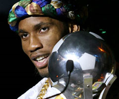 photo Didier Drogba ballon d'or Africain 2009