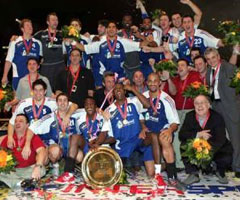 photo Equipe de France de handball masculin championne d'Europe 2006 en Suisse