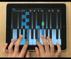 photo FingerPiano application Piano pour iPad