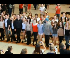 photo Flash mob dans la gare de Sydney pour la Saint Patrick