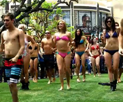 photo Flash Mob en Maillot de bain