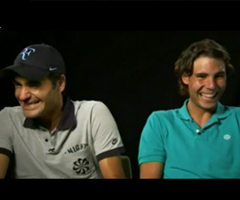 photo Fou rire de Nadal et Federer