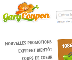 photo GaryCoupon.com coupon de réduction sur Internet
