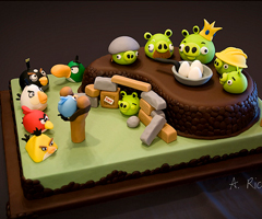 photo Le g�teau Angry Birds