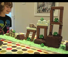 photo Gateau d'anniversaire Angry Birds jouable