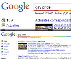 photo Google arc-en-ciel pour la Gay Pride 2010