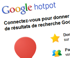 photo Google Hotpot le site d'avis et de recommandations de Google