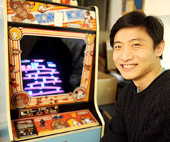 photo Hank Chien bat le record du monde à Donkey Kong