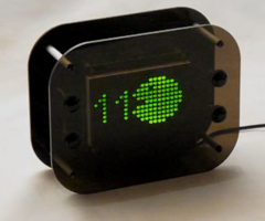 photo Horloge Pixel programmable DOTKLOK