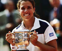photo Jennifer Capriati gagne Roland Garros 2001