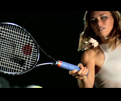 photo Joueuses de tennis film�es en slowmotion (Serena Williams, Jelena Jankovic, Samantha Stosur et Vera Zvonareva)