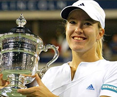 photo Justine Hénin gagne l'US Open 2003