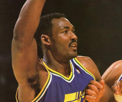 photo Karl Malone marque 61 points contre Milwaukee Bucks