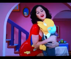 photo Katy Perry et Les Simpson en marionette pour Noël