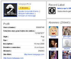 photo Lady Gaga atteint 1 milliard de vues sur YouTube