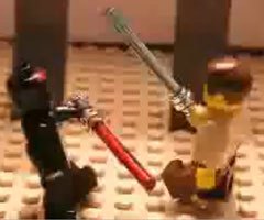 photo Lego Star Wars Obi-Wan vs Dark Maul