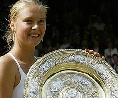 photo Maria Sharapova gagne Wimbledon 2004