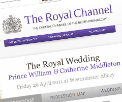 photo Mariage du prince William et de Kate Middleton en direct sur YouTube