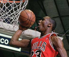 photo Michael Jordan marque 61 points contre Atlanta Hawks