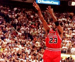 photo Michael Jordan marque 64 points contre Orlando Magic