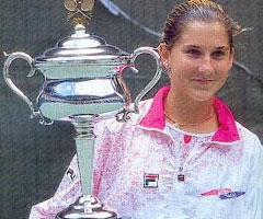 photo Monica Seles gagne l'Open d'Australie 1991