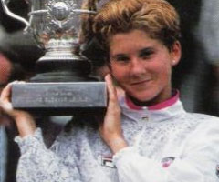 photo Monica Seles gagne Roland Garros 1991