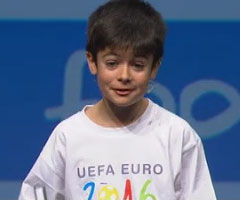 photo Nathan 10 ans pour l'Euro 2016 en France