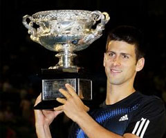 photo Novak Djokovic gagne l'Open d'Australie 2008