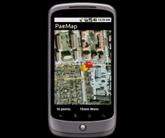 photo PacMap , jeu de PacMan dans Google Maps