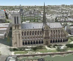 photo Paris en 3D dans Google Earth
